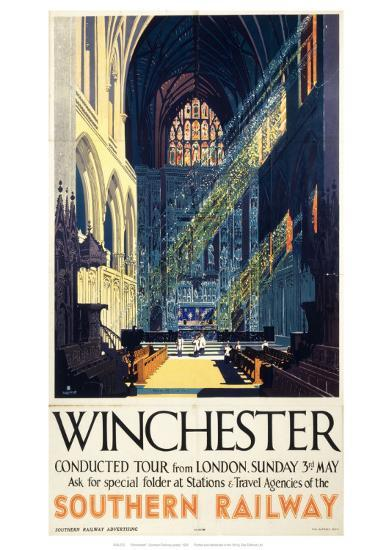 Winchester Inside Cathedral--Giclee Print