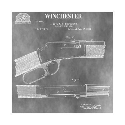 Winchester Magazine Fire Arm,-Dan Sproul-Giclee Print