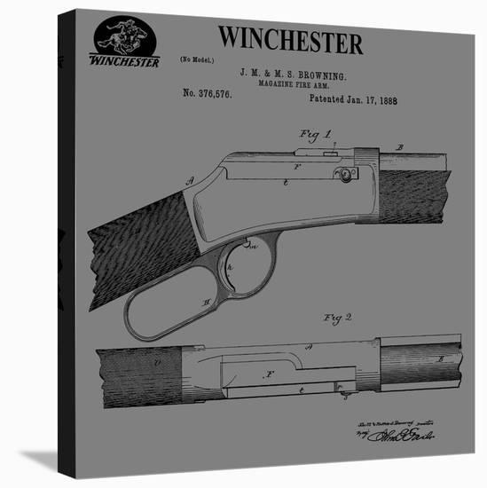 Winchester Magazine Fire Arm, Stretched Canvas Print by Dan Sproul | Art com