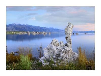 Wind and rain eroded tufa towers along shore of Mono Lake, California-Tim Fitzharris-Art Print