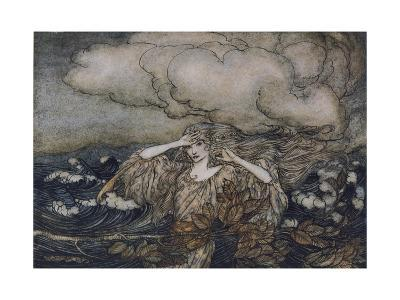 Wind and Waves Rackham-Arthur Rackham-Giclee Print