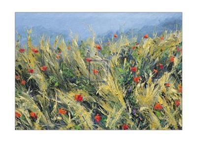 Wind-Blown Poppies-Gordon Breckenridge-Art Print
