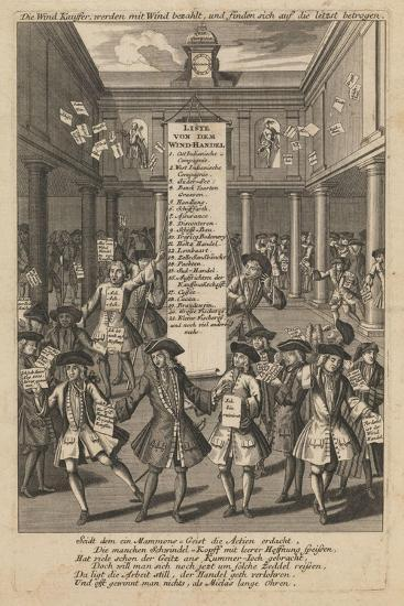Wind Dealers Dropping Money..., Ca 1720- Schmid-Giclee Print