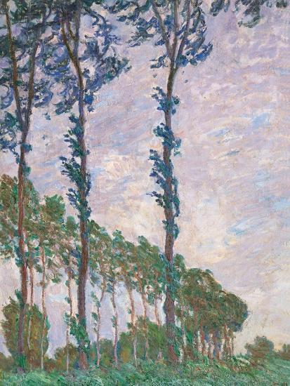 Wind Effect, Series of Poplars-Claude Monet-Art Print