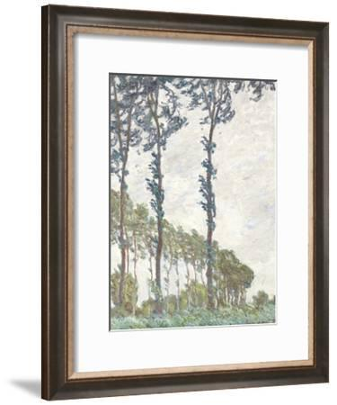 Wind Effect, Series of The Poplars 1891-Claude Monet-Framed Premium Giclee Print
