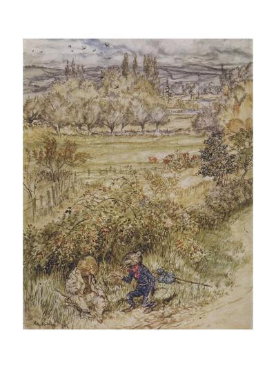Wind in the Willows-Arthur Rackham-Giclee Print