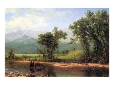 Wind River Mountains, Wyoming-Albert Bierstadt-Premium Giclee Print