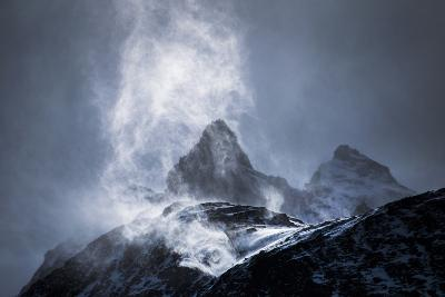 Wind Sweeping Snow Off Mountains, Torres Del Paine National Park, Patagonia, Chile, South America-Matthew Williams-Ellis-Photographic Print