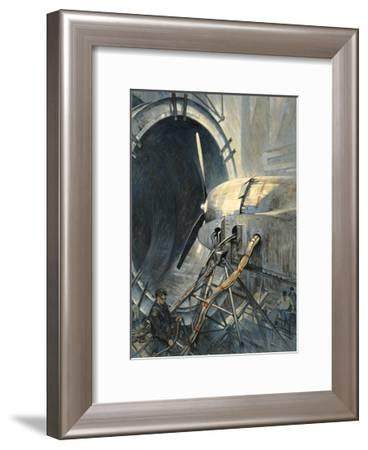 Wind Tunnels Hurl Superhurricanes for Testing Airplanes-Thornton Oakley-Framed Giclee Print