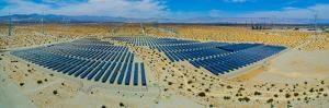 Wind Turbines and Solar Panels, Palm Springs, Riverside County, California, USA