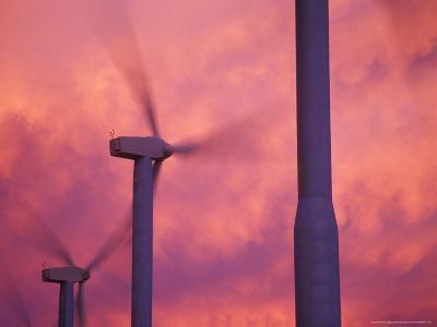 Wind Turbines at the Stateline Wind Project, Walla Walla County, Washington, USA-Brent Bergherm-Photographic Print