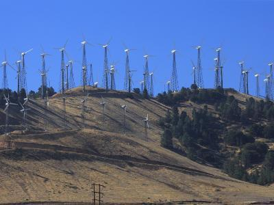 Wind Turbines for Electric Power, California-George Grall-Photographic Print