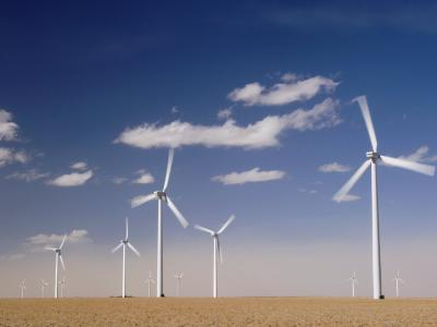 Wind Turbines for Generating Electricity, Two Buttes, Colorado, Usa, February 2006-Rolf Nussbaumer-Photographic Print