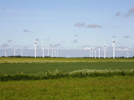 Wind Turbines in South Jutland, Denmark, Scandinavia, Europe-Yadid Levy-Photographic Print