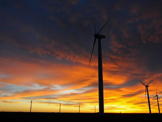 Wind Turbines-Tom Ulrich-Photographic Print
