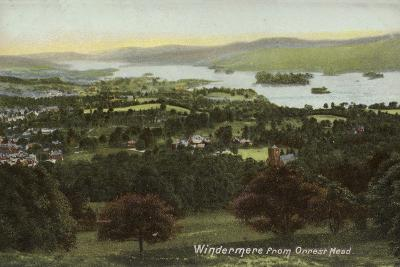 Windermere from Orrest Head, Lake District--Photographic Print