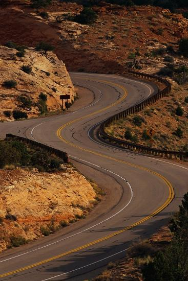 Winding Highway-Paul Souders-Photographic Print