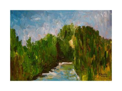 Winding River, 2009-Patricia Brintle-Giclee Print