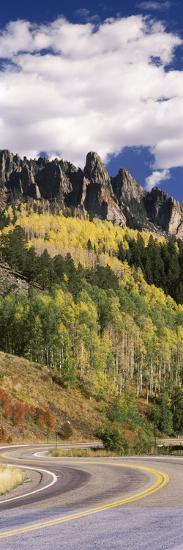 Winding Road Passing Through Mountains, Jackson Guard Station, Ridgway, Colorado, USA--Photographic Print