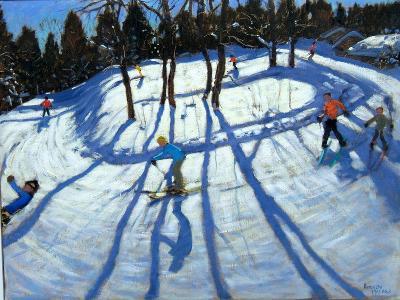 Winding Trail, Morzine-Andrew Macara-Giclee Print