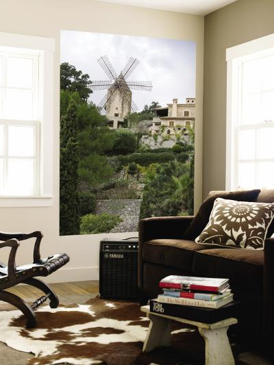 Windmill and Private Gardens-Holger Leue-Wall Mural