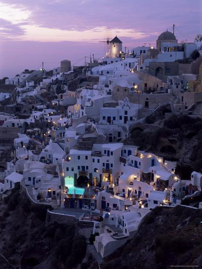 Windmill and Village of Oia, Island of Santorini (Thira), Cyclades, Greece-Gavin Hellier-Photographic Print