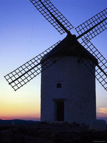 Windmill at Consuegra, Ruta de Don Quixote, Castilla La Mancha, Spain, Europe-Gavin Hellier-Photographic Print