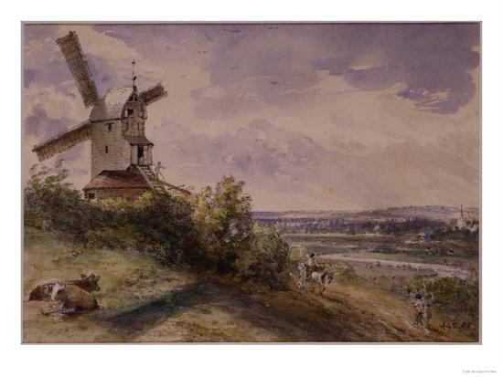 Windmill at Stoke, Near Ipswich-John Constable-Giclee Print