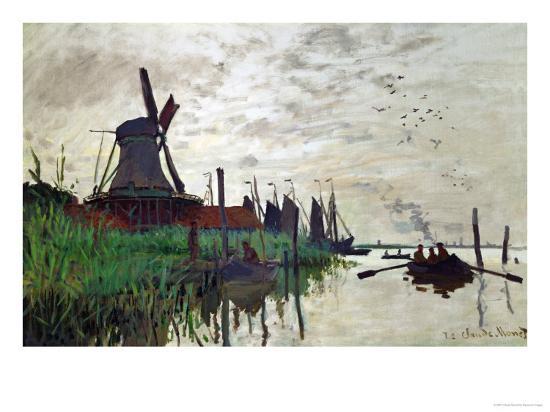 Windmill at Zaandam (Netherlands), 1871-Claude Monet-Giclee Print