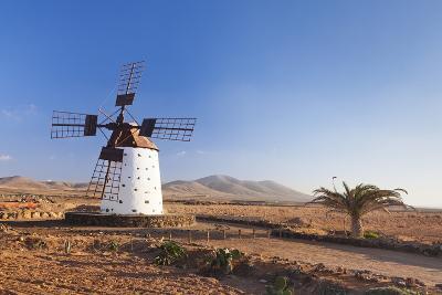 Windmill, El Cotillo, Fuerteventura, Canary Islands, Spain, Atlantic, Europe-Markus Lange-Photographic Print