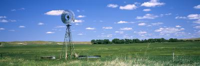 Windmill in a Field, Nebraska, USA--Photographic Print