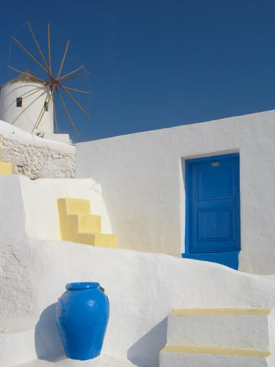 Windmill in Oia, Santorini, Cyclades, Greek Islands, Greece, Europe-Papadopoulos Sakis-Photographic Print