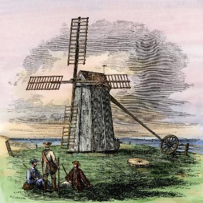 Windmill in Truro on Cape Cod, Massachusetts, 1850s--Giclee Print