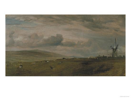 Windmill Near Brighton, East Sussex-John Constable-Giclee Print
