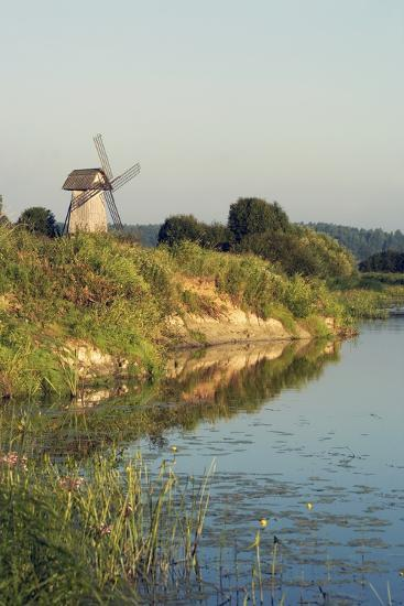 Windmill on Banks of Sorot River--Giclee Print