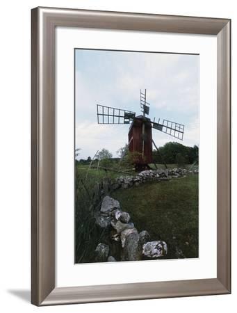 Windmill on Island of Oland, Sweden--Framed Giclee Print