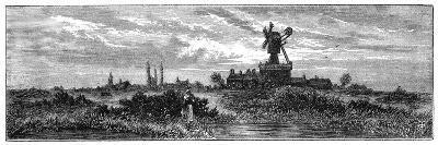 Windmill on Wimbledon Common, 1880-Robert Taylor Pritchett-Giclee Print