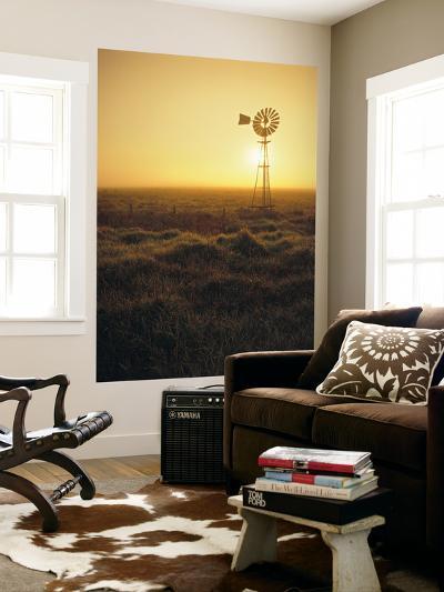 Windmill Water Pump, Victoria, Australia-Walter Bibikow-Wall Mural