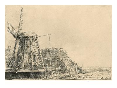 Windmill-Rembrandt van Rijn-Giclee Print
