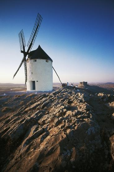 Windmills Along Road of Don Quixote at Consuegra, Castilla-La Mancha, Spain--Photographic Print
