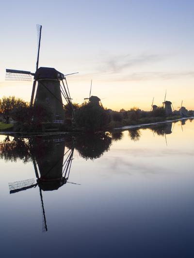 Windmills at Kinderdijk, UNESCO World Heritage Site, Near Amsterdam, the Netherlands, Europe-Craig Easton-Photographic Print