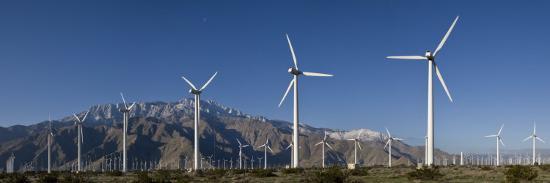 Windmills at San Gorgonia Pass, in Palms Springs, California-Greg Dale-Photographic Print