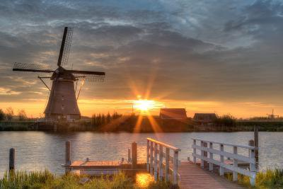 Windmills in Kinderdijk, Netherlands-Jag_cz-Photographic Print
