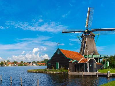 Windmills in Zaanse Schans, Holland, Netherlands-kavalenkava volha-Photographic Print