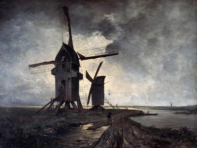 Windmills of the Surrounding Landscape of Lille, 1877-Emmanuel Lansyer-Giclee Print