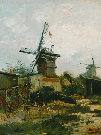 Windmills on Montmartre-Vincent van Gogh-Giclee Print