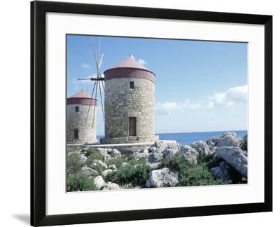 Windmills, Rhodes, Greece-Leslie Harris-Framed Photographic Print