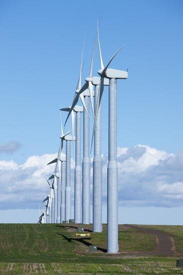 Windmills, Wallula, Washington-Paul Souders-Photographic Print
