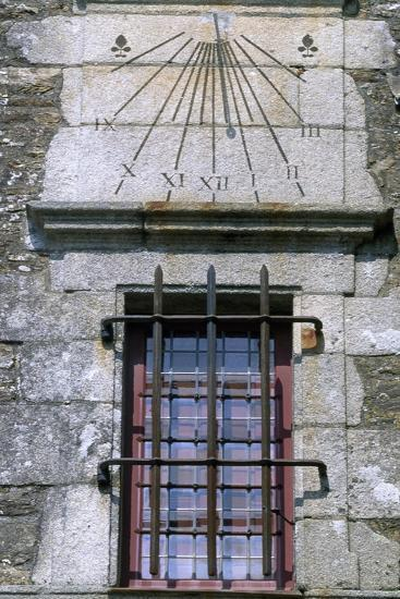 Window and Sundial, Detail from Logis De La Chabotterie Residence, France, 15th-18th Century--Giclee Print