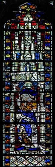 Window C2 Depicting a Prophet with Scroll--Giclee Print